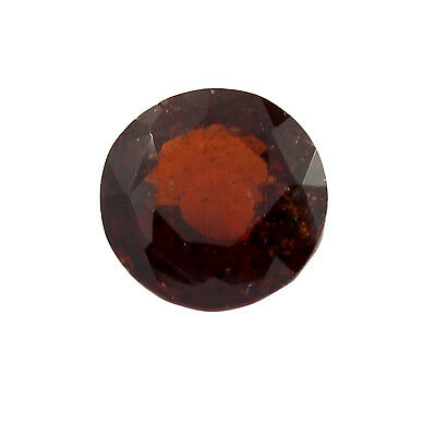 Be You 5.54cts Orange Color Faceted Round Shape Natural Odisha Hessonite