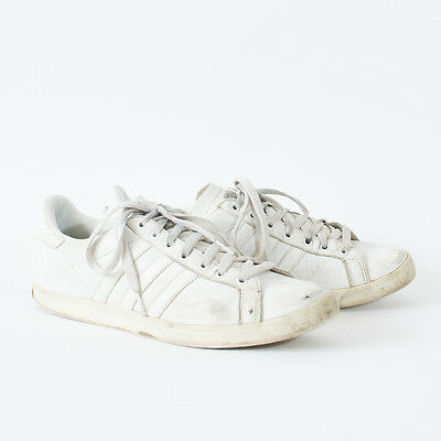 True Vintage 90's Adidas Court Trainers Laced Sneakers White Leather Men's UK 9