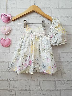 Baby Girls Lovely Flower Dress & Bloomers Newborn upto 10lbs ☆ Next ☆