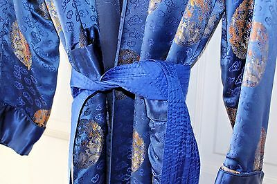 VINTAGE - Men's Thick, Blue, Luxurious Kimono-Style ROBE Size 50
