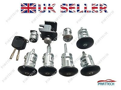 FORD TRANSIT BUS 2000-2006 COMPLETE LOCK SET and 2 KEYS - FULL SET - 9 pieces