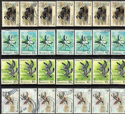 1991  Waterbirds Of Australia Set Of 4 X 7 Sets Good To Fine Used