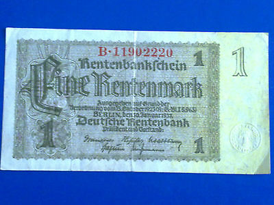 Germany - 1 Mark 1937 -  Nazi Era- Very  Fine