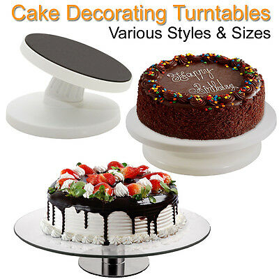Cake Decorating Turntable Revolving Display Rotating Tilting Stand Revolving UK