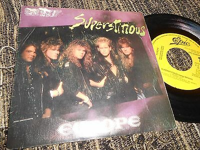"""Europe Superstitious Single 7"""" 1988 Promo One Side Spain"""