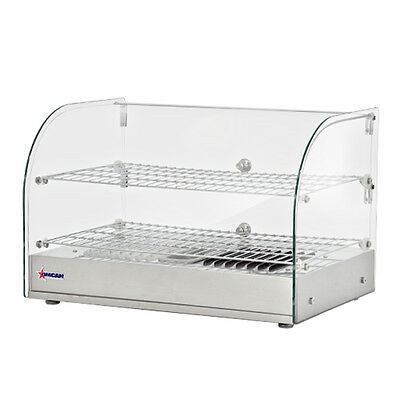 """Commercial Countertop Display Glass Food Warmer Curved Glass 22"""" x 15""""H"""