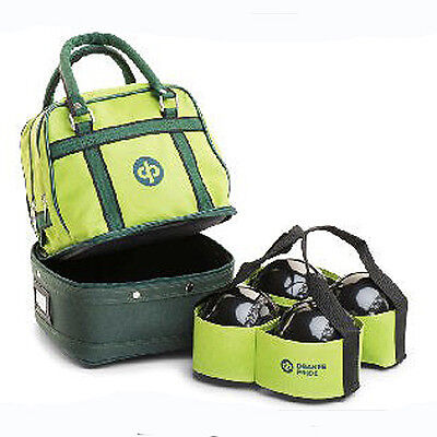 "Drakes Pride  ""mini"" Bowls Bag (For 4 Bowls) - Lime Green.  Free Postage."