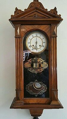 antique black forest regulator cuckoo clock calender