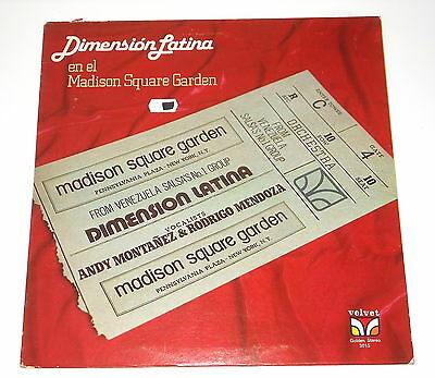 Salsa - Dimension Latina - LP - El Madison Square Garden - Velvet 3015