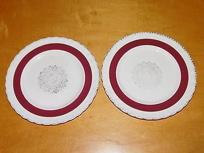 2 Vintage Grindley 'Cream Petal' Side Plates 8in