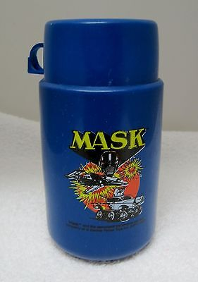 Older The Mask Dark Blue  Dated 1987 Cartoon Tv Show  Thermos Band