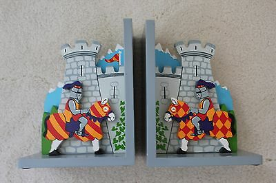 Knights & Castle Wooden Bookends