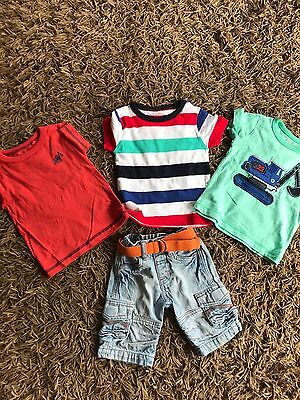 Mini Mode Shorts And X3 Next T Shorts All Age 6-9 Months Vgc