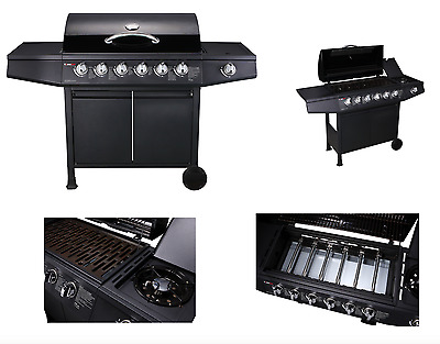 CosmoGrill 6+1 Large Gas Burner Grill BBQ Barbecue incl. Side Burner - 93422