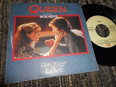 """Queen One Year Of Love/gimme The Prize Single 7"""" 1986 Spain Highlander Ost Bso"""