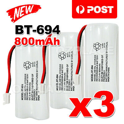 3x 800mAh 2.4V Ni-MH Cordless Phone For Uniden Battery BT-694 BT 694 BT-694S