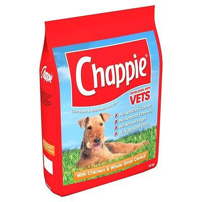 Dog Chappie Chicken And Wholegrain Cereal Adult Dog Food Dry Pouch 15kg