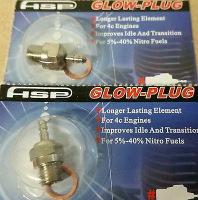 RC car Nitro Glow Plug HSP number N4 Medium Hot x2