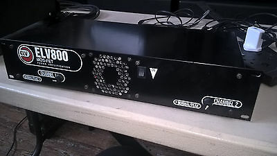ELV800 Power Amplifier - 2x400W RMS DJ Power Amplifier