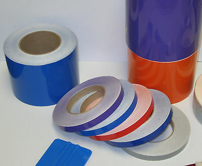 "2"" x 150 ft Roll Vinyl Pinstriping Vinyl Striping Tape 25 Colors Available"