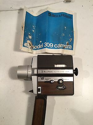 Vintage Bell & Howell 309 Cine Movie Camera  With Manual