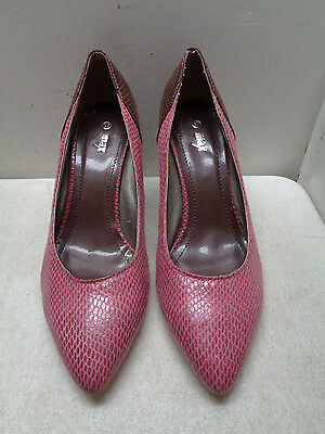 Max Pink & Brown Pumps High Heel Shoes Size Euro 37 Women's Us 7?