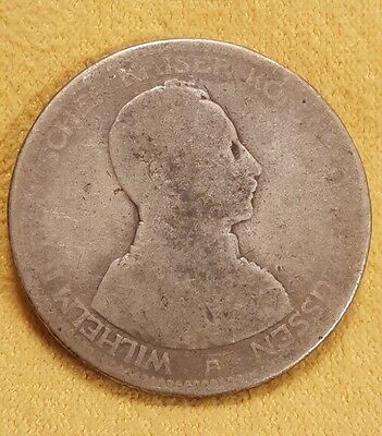 1913-A Germany 5 Mark Silver Foreign Coin Free Shipping