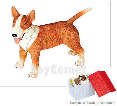 Bull Terrier Dog Animal Part II 4D 3D Puzzle Realistic Model Kit Toy