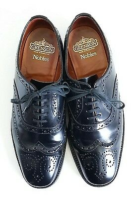 """Grenson Men's  Black Leather """"Nobles"""" Lace up Oxford Brogues. UK Size 8.5"""