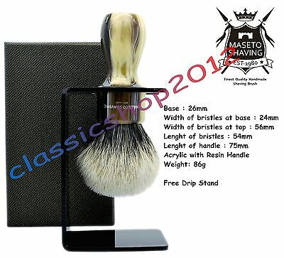 "MS - Extra Density 2 Band 100% Finest Badger Shaving Brush - ""Memphis"" 26mm Knot"