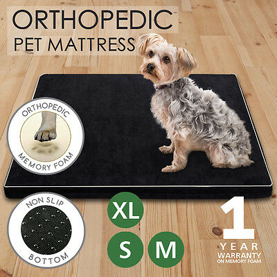 Memory Foam Dog Bed Pet Beds Mat Cat Pad Orthopedic Cushion Mattress