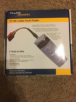 Genuine Fluke Networks 26500390 TS100 KIT Cable Fault Finder