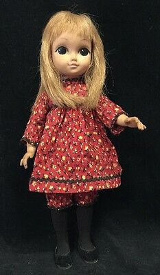 Vintage Vogue Doll Love Me Linda 1965 Big Eyes  WITH DRESS SHOES OUTFIT 15""