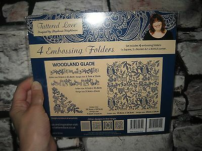 Tattered Lace 4 Embossing Folders 'Woodland Glade' NEW