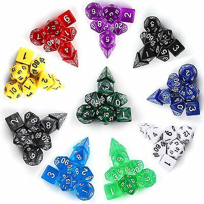 INTEY 10x7 (70 Pieces) Dadi Applicare ai  giochi di ruolo Dungeons  Dragons