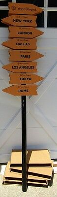New VEUVE CLICQUOT Large Metal & Wood Barware Advertising Journey Street Sign