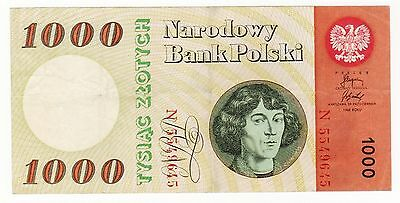 POLAND 1,000 1000 ZLOTYCH 1965, P-141a FINE BANKNOTE  / LOOK SCANS
