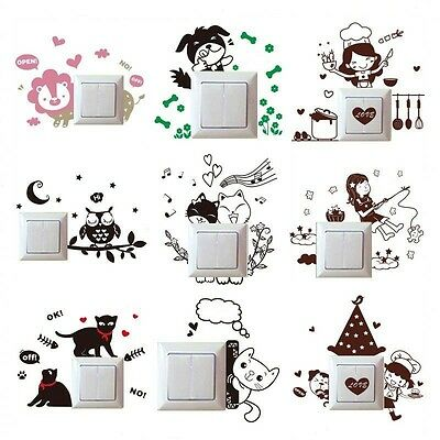 Various Mural Decals Light Decor Wall Stickers Switch Art Room PVC Home Carton