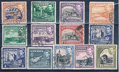 Cyprus - British Colonial - Set Of 13 Old Stamps ( Chyp 10 )