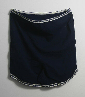Vintage Navy Blue Nylon St Micheal Ladies Stretch Knickers (403)