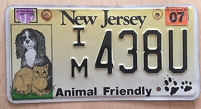 "Nj Animal Friendly License Plate "" Im 438U "" Dogs And Cats Dog Cat Pet Pets"