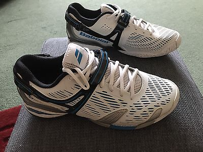 Babolat Mens Tennis Trainers Size Uk 8 Worn Twice Perfect Condition