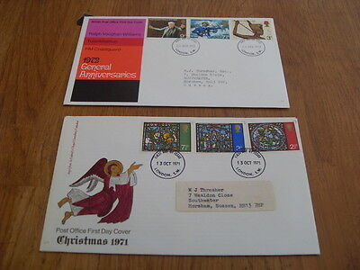 England  F-D Covers- Christmas 1971 - / General Annversaries 1972