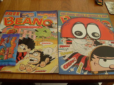 The Beano Comic 2 Issues No 3001 + Gift / 3003 + Gift