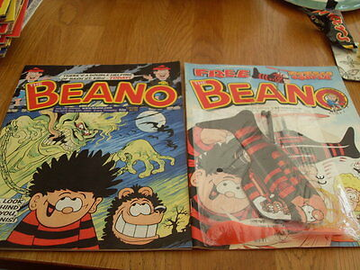 THE BEANO COMIC 2 ISSUES NO 3009 + gift /3018 2000