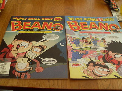 THE BEANO COMIC 2 ISSUES NO 3022 / 3023 + gift 2000