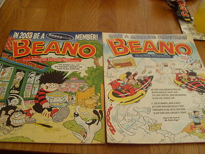 The Beano Comic 2 Issues No 3154 , 2002 / 3155 2003