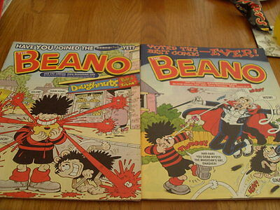The Beano Comic 2 Issues No 3158 / 3159 2003