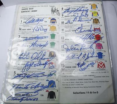Rare Find! 1988 15 Jockeys Autographed Ky Derby 114 Official Program FREE S/H