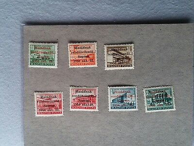 HUNGARY stamps 1956 Sopron issue, set of 7 values MNH / ** sign overprint #43